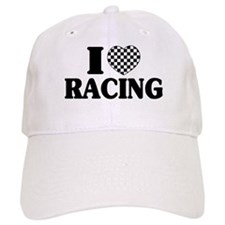 I (Checker) Heart Racing Baseball Baseball Cap
