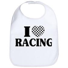I (Checker) Heart Racing Bib