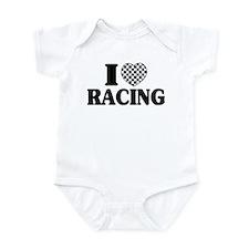 I (Checker) Heart Racing Infant Bodysuit