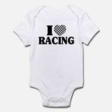 I (Checker) Heart Racing Infant Bodysuit