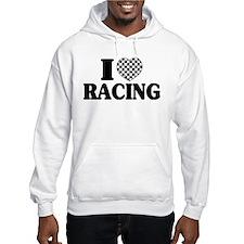I (Checker) Heart Racing Hoodie