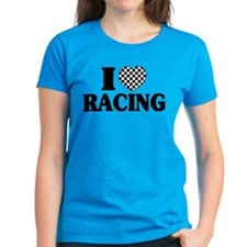 I (Checker) Heart Racing Tee