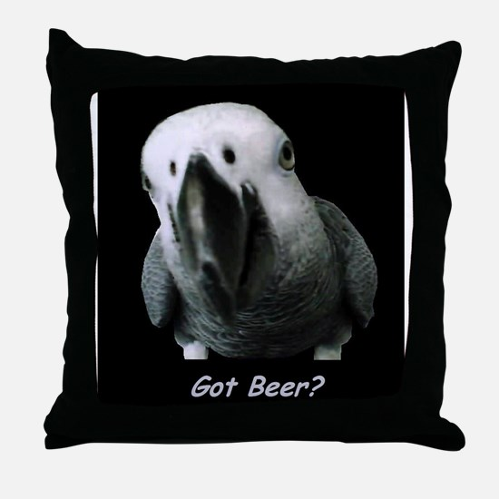 Funny African grey Throw Pillow