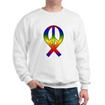 Rainbow Peace Ribbon Sweatshirt