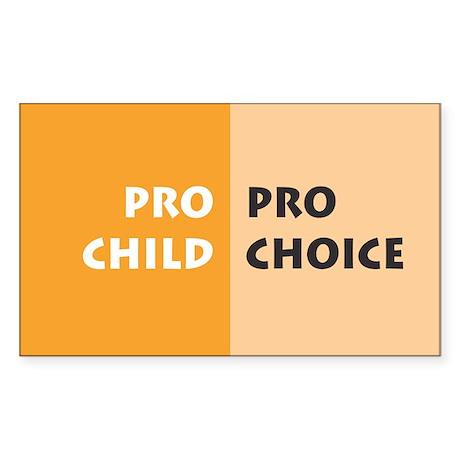 Pro Choice Rectangle Sticker
