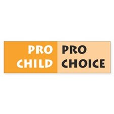 Pro Choice Bumper Bumper Sticker