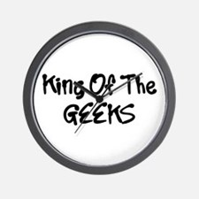 King Of The Geeks Humor Funny Wall Clock