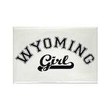 Wyoming Girl Rectangle Magnet