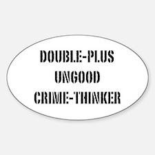 Crimethink Sticker (Oval)