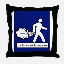 Tweet Throw Pillow