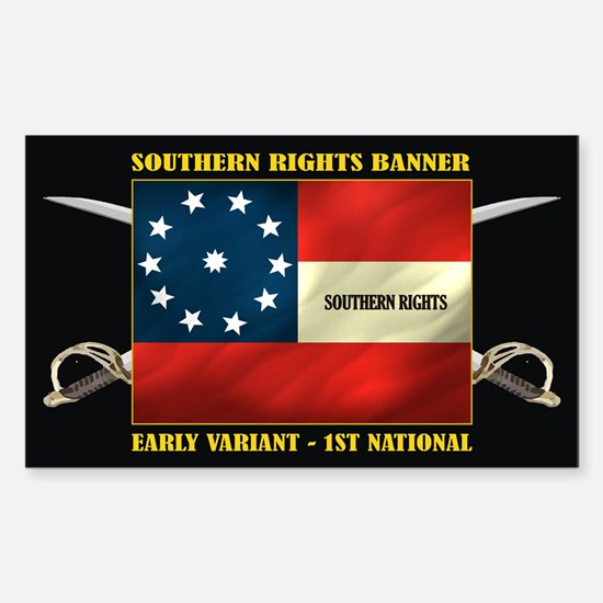 Southern Rights 1st National Decal