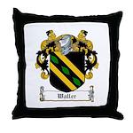 Waller Family Crest Throw Pillow