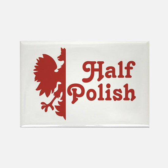 Half Polish Rectangle Magnet