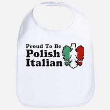 Proud To be Polish Italian Bib