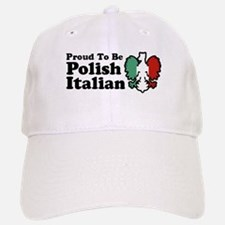 Proud To be Polish Italian Baseball Baseball Cap