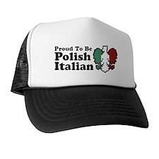 Proud To be Polish Italian Trucker Hat