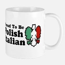 Proud To be Polish Italian Mug