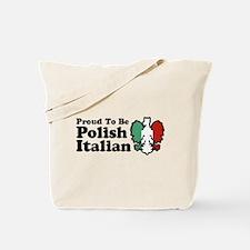 Proud To be Polish Italian Tote Bag
