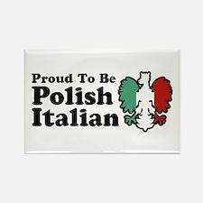 Proud To be Polish Italian Rectangle Magnet
