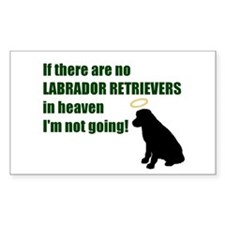 Labrador Retrievers In Heaven Sticker (Rectangular