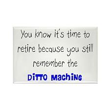 Retired Teacher II Rectangle Magnet