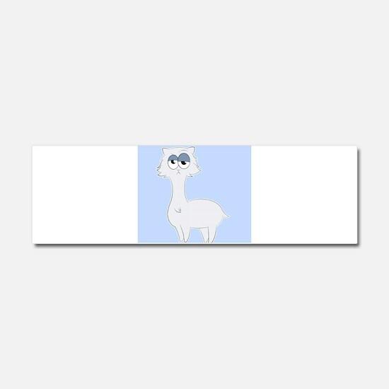 Grumpy Persian Cat Llama Car Magnet 10 x 3