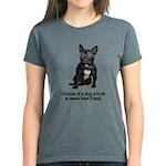 Best Friend French Bulldog Women's Dark T-Shirt