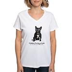 Best Friend French Bulldog Women's V-Neck T-Shirt