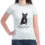 Best Friend French Bulldog Jr. Ringer T-Shirt