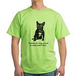 Best Friend French Bulldog Green T-Shirt