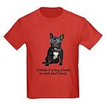 Best Friend French Bulldog Kids Dark T-Shirt