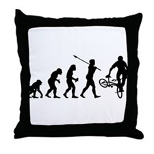 BMX Rider Throw Pillow