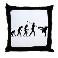 Breakdancer Throw Pillow