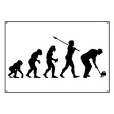 Curling Player Banner