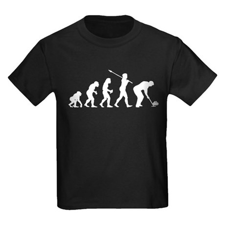 Curling Player Kids Dark T-Shirt