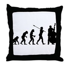 Double Bassist Player Throw Pillow