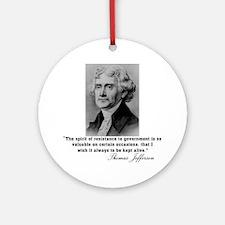Jefferson Spirit of Resistance Ornament (Round)