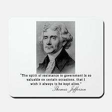 Jefferson Spirit of Resistance Mousepad