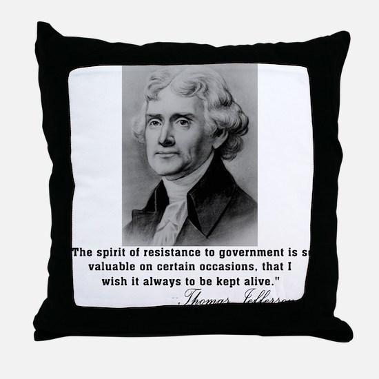 Jefferson Spirit of Resistance Throw Pillow