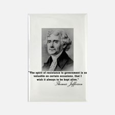 Jefferson Spirit of Resistance Rectangle Magnet