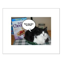 Black & White Cat Humor Posters