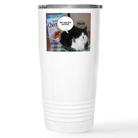 Black & White Cat Humor Stainless Steel Travel Mug