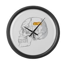PEANUT BRAIN Large Wall Clock