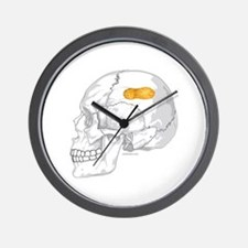 PEANUT BRAIN Wall Clock