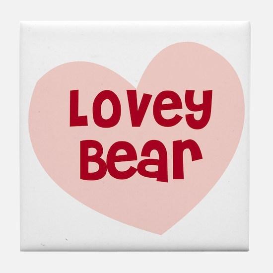 Lovey Bear Tile Coaster