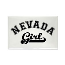 Nevada Girl Rectangle Magnet