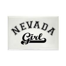 Nevada Girl Rectangle Magnet