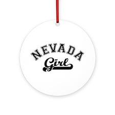 Nevada Girl Ornament (Round)