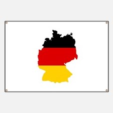 German Flag (shape) Banner