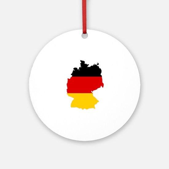 German Flag (shape) Ornament (Round)